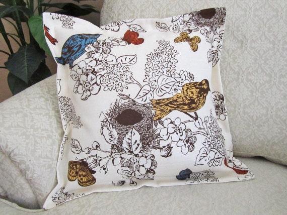 Bird Decorative Throw Pillow Cover Sofa by asmushomeinteriors