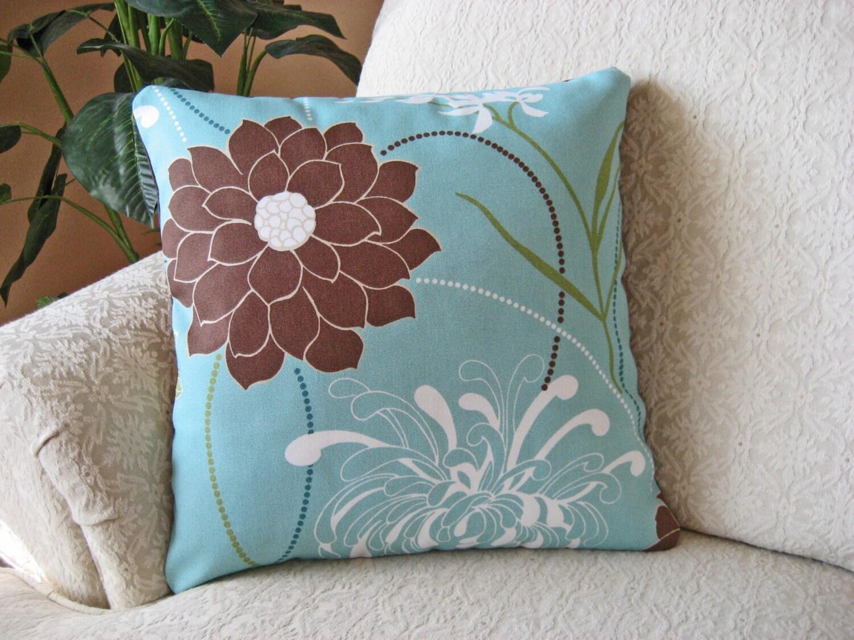 Spa Blue Throw Pillow Cover : Spa Blue Throw Pillow Cover 16 x 16 Large Dalia