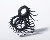 CUSTOM - Mussorgsky Ring with Soft Black Spikes