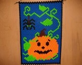 Pumpkin And Spider Beaded Banner