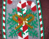 Candy Canes Beaded Banner