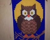 Owl Beaded Banner