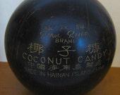 Vintage Carved Coconut Candy Bowl