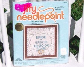 Wedding Lace Needlepoint Kit Vintage