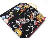Reusable Sandwich Bag, Eco Friendly Lunch Kit, Day of the Dead, Dia da los Muertos, Ready to Ship