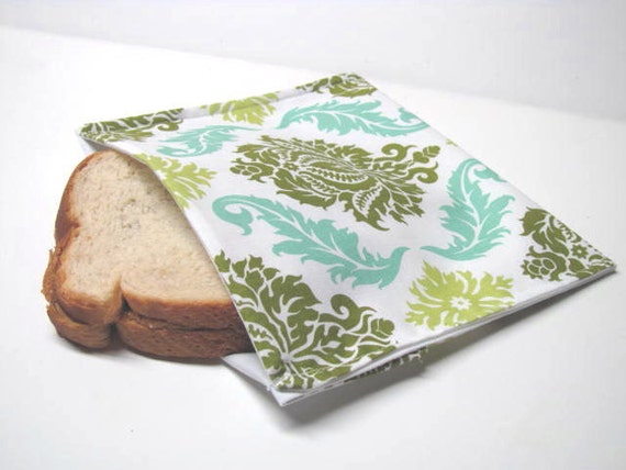 Reusable Sandwich Bag, Eco Friendly Lunch Bag, Designer Fabric Stylish Lunch Kit  Ready to Ship