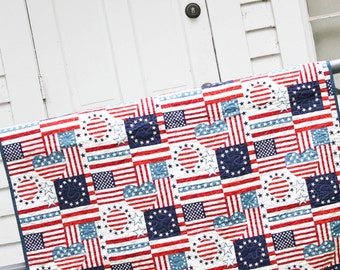Americana Whole Cloth Quilt