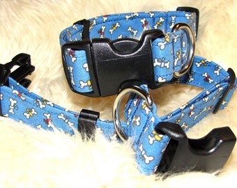 SALE - Doggy Bones Dog Collar - Size M