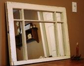 Vintage White Mirror Window Frame