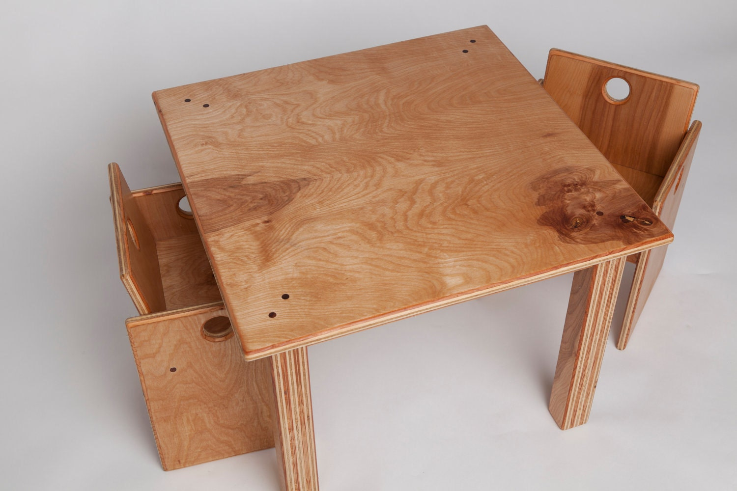 Toddler Size Wooden Table and Chairs