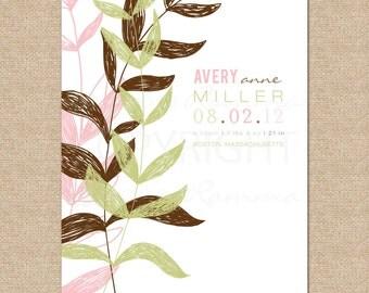 Birth Announcement Giclée Art Print // Meadow // N-B05-1PS AA6