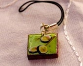 HALF PRICE - Sail Sale - Green tile Sushi Charm