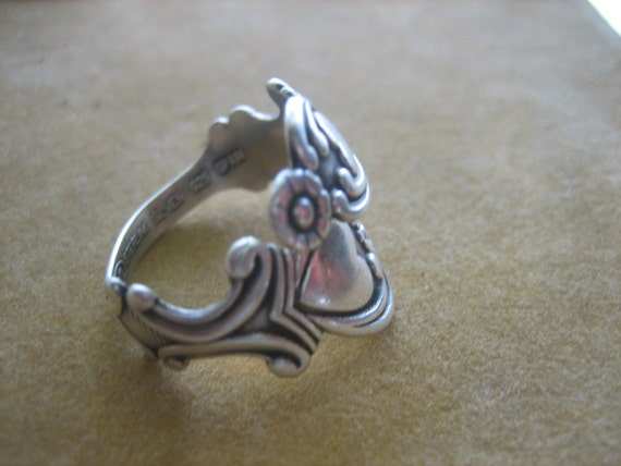 Vintage 925 Sterling Silver Avon Spoon Ring