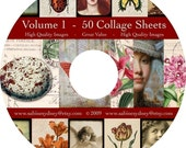 Volume 1 - Digital Collage Sheet Collection on CD - Pick Your Own Sheets - 50 Sheets - Just 35.99 - Pick Your Own Sheets