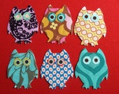 Mini Owl Friends Collection Applique Iron-On Patches