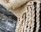 Coffee Cream Chenille Handwoven Scarf