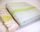 May Handwoven Kitchen Towels in Blue