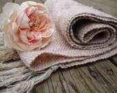 Handwoven Scarf Summer Rose