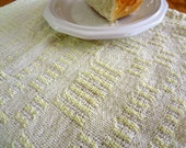 Small Yellow Handwoven Kitchen Towel