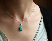 Howlite Turquoise Drop Necklace