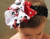 Minnie Mouse... Disney Inspired Boutique Hair Bow