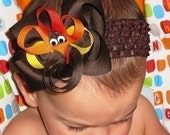 Turkey Time... Thanksgiving Boutique Hair Bow
