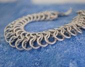 Silver Color Slinky Bracelet   Vintage. Goldette