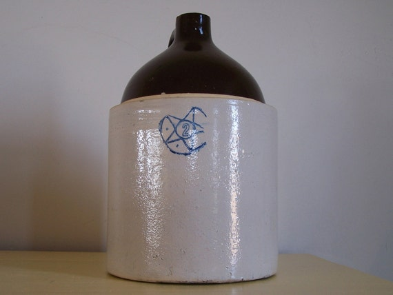 Antique Whiskey Jug Star Pottery Number 2  PRICE REDUCED