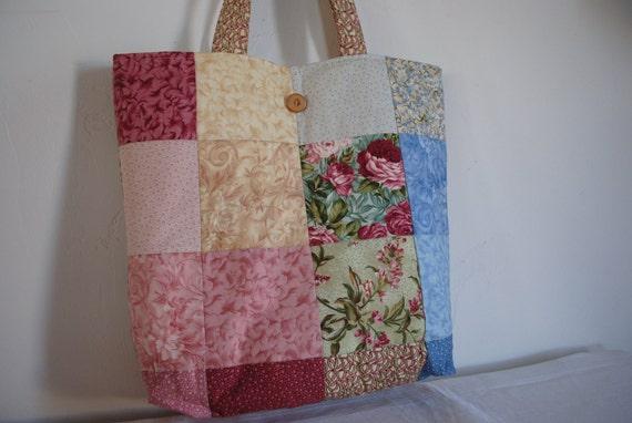 Patchwork Tote Bag  Handmade