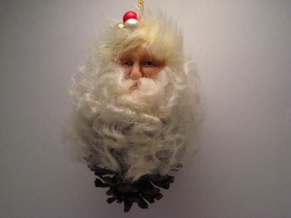 Pine Cone Santa Ornament