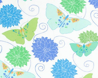 Flannel Fabric Tango in Ocean from the Della Collection by Valori Wells 1/2 Yard