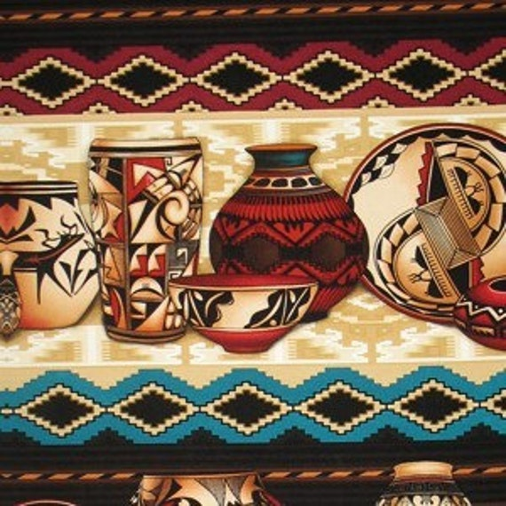 Native American Fabric Pottery Stripe By Michael Miller