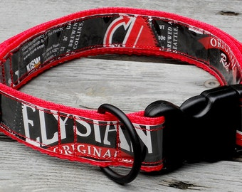 Dog Collar from Recycled Elysian's The Mens Room Red Beer Labels