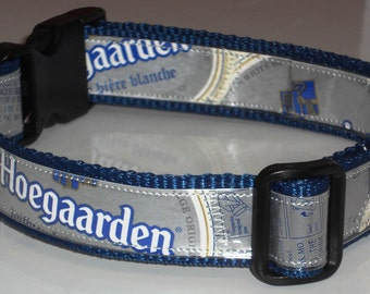 Dog Collar from Recycled Hoegaarden Beer Labels