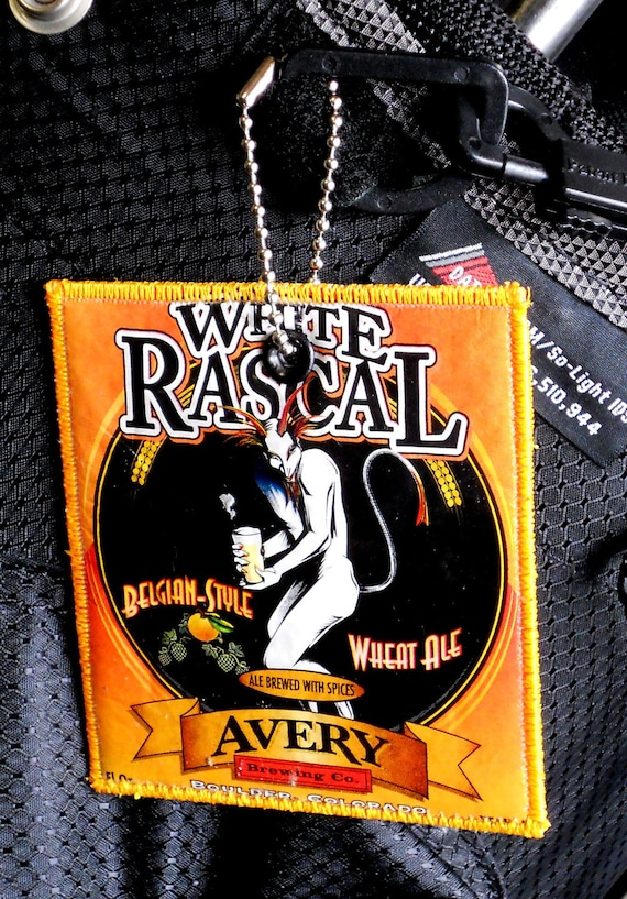 Luggage Tag from Repurposed Avery Brewing Co. White Rascal Beer Label