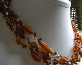SALE Amber Twist Necklace