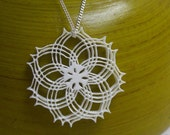 Triplet Rosette acrylic laser cut necklace