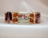 DOG JEWELRY Cavalier King Charles Jewelry / Upcycled Scrabble Bracelet / Unusual Gifts