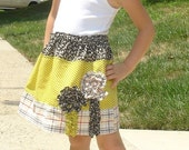 Pretty Prints Skirt and Hair Band Set- fits 2t 3t 4t