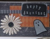 Ghostly Happy Haunting Halloween Card and Envelope
