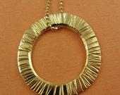 24kt Gold Vermeil Textured Circle Necklace