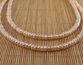 SALE Mauve Pearl Necklace Multistrand Pearl Necklace Mauve Necklace Tiered Pearl Freshwater Pearl Pink Pearl Necklace 2 Strand Pearls Peach