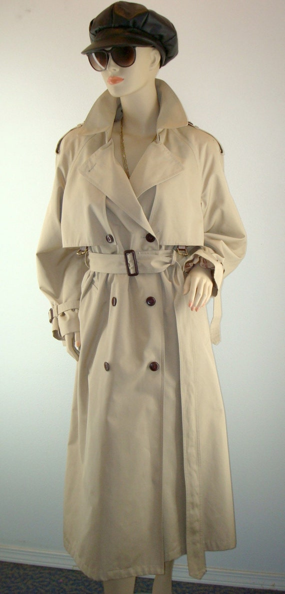 SALE Vintage Etienne Aigner SPY Trench Coat
