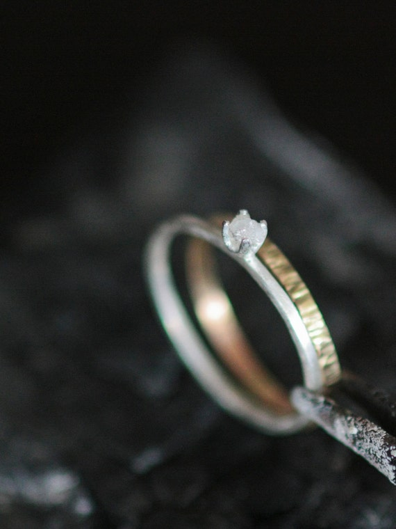 Custom Listing for Philippe White Rough Diamond Ring