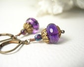 Amethyst earrings february birthday heather blossoms