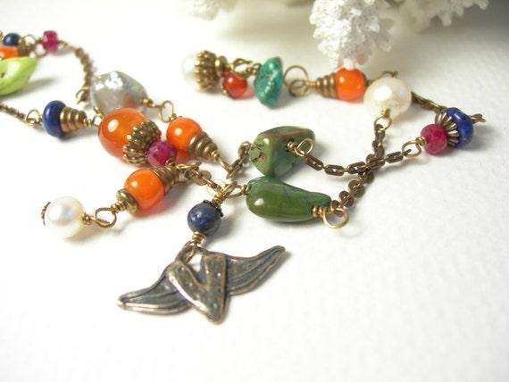 On Sale, Bohemian turquoise bracelet lapis luzuli carnelian sterling silver jeweled spring