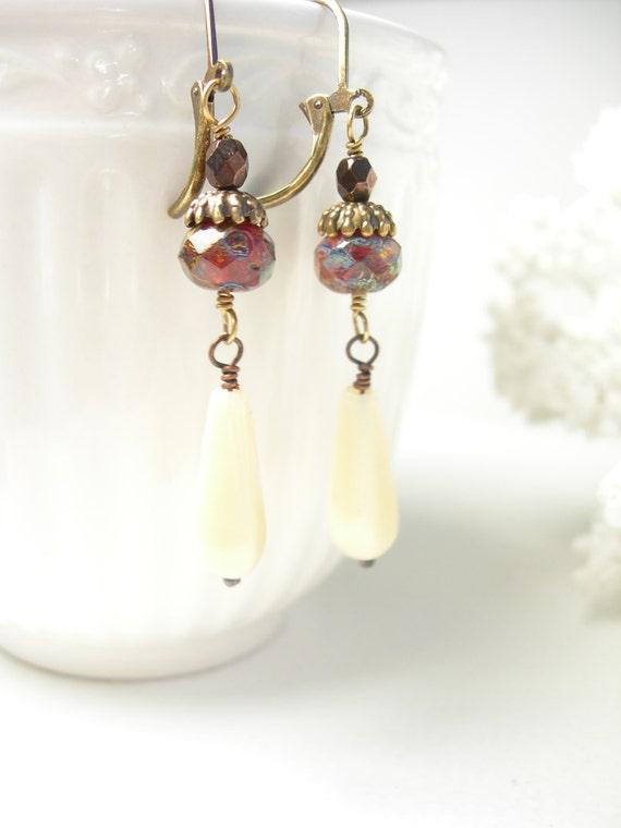 Winter berry earrings vanilla glass autumn fashion