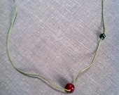 ruby and freshwater pearl necklace
