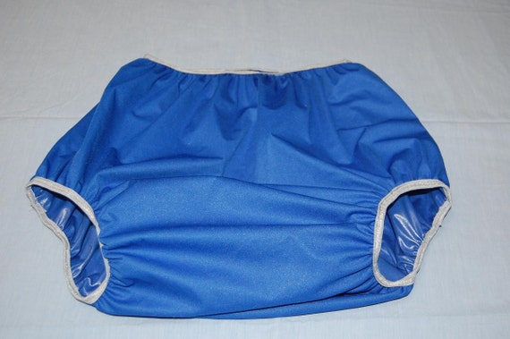 Adult Diaper Cover Waterproof Pul Blue And Gray Size