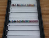 Holds 200 PLUS Display craft show bead box tray leather lampwork glass beads Jewelry earring holder Storage Wood